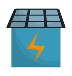 Solar panel icon image vector