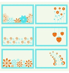 Elegance ornamental frames set vector image