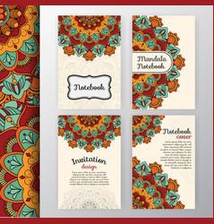 set of vintage invitation and background design vector image