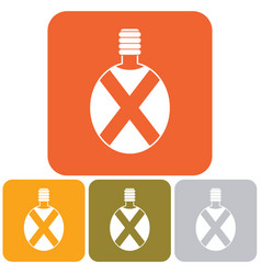 Camping flask icon vector