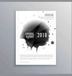 Annual report business magazine cover template in vector