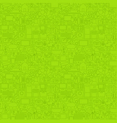 green line household seamless pattern vector image