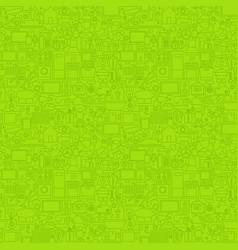 Green line household seamless pattern vector