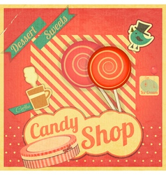 Candy sweet shop vector