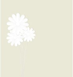 Flowers made of paper on a green background vector image
