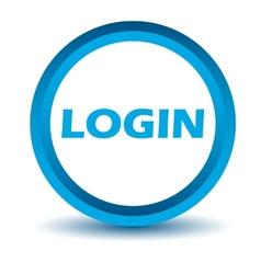 Blue login icon vector image