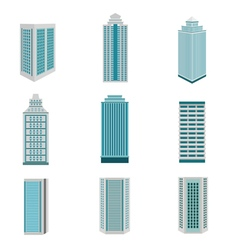 City building downtown landscape vector