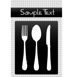 cutlery set vector image