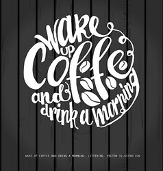 Chalkboard poster lettering coffee vector