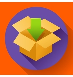 Shipping and packing icon flat design style vector
