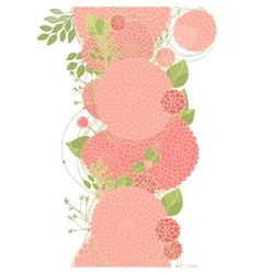 Seamless floral line vector image