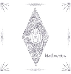 Abstract Pattern Pumpkin Black One vector image