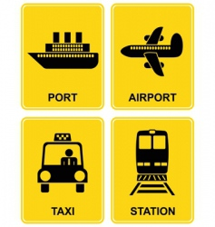 airport station taxi port vector image vector image