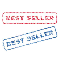 best seller textile stamps vector image