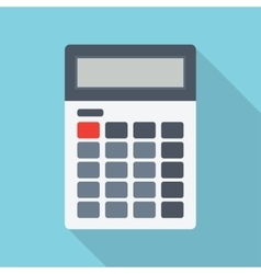 Calculator isolated on a colored background vector image vector image