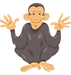 Chimpanzee ape cartoon vector