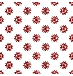 Christmas seamless pattern from red snowflakes vector image vector image