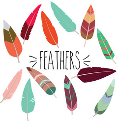 colorful feathers vector image vector image