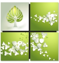 Eco green concept summer card vector image