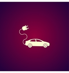 electric car icon Flat design style vector image vector image
