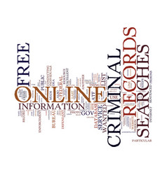 free online searches for criminal records text vector image