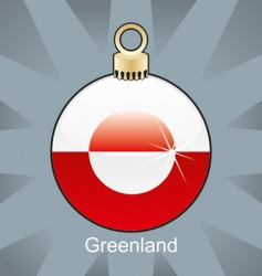 Greenland flag on bulb vector image