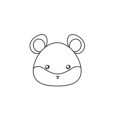 hamster drawing face vector image vector image