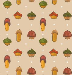 Hand drawn cartoon autumn seamless pattern vector
