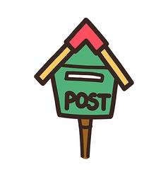 icon post box vector image