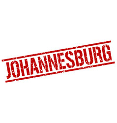 Johannesburg red square stamp vector