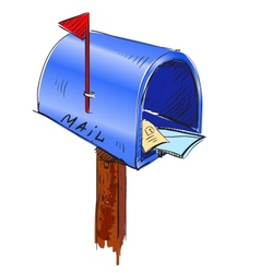 Mailbox cartoon icon vector image