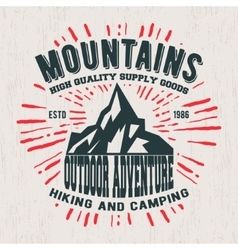 Mountains vintage stamp vector