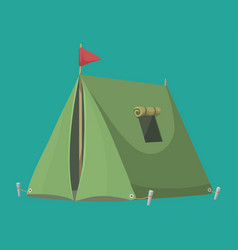 Outdoor tent nature leisure vector