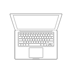 Outlined laptop vector image