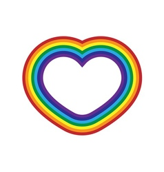 Rainbow icon heart flat vector image vector image