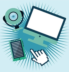 tech gadgets vector image