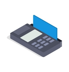 Terminal card icon isometric 3d style vector