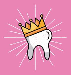 tooth image cartoon vector image