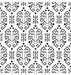 Tribal ornament seamless pattern vector image vector image