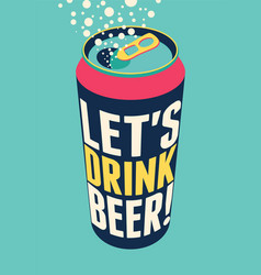 Typography vintage beer poster vector