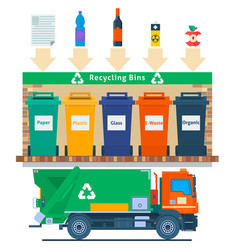 waste management concept recycling vector image vector image