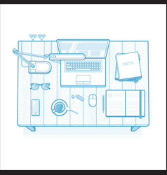 workplace lined minimalist vector image vector image