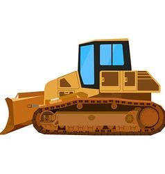 Yellow building bulldozer vector image vector image