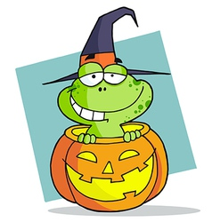 Cartoon Character Halloween Frog vector image