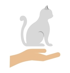 Cat logo flat style vector image