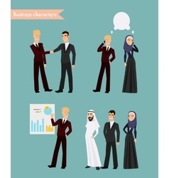 Arab business people meeting vector