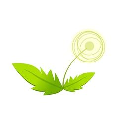 icon dandelion vector image