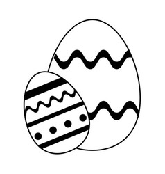 Decorated egg easter related icon image vector