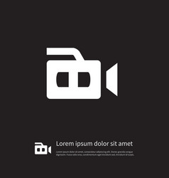 isolated camcorder icon recording element vector image
