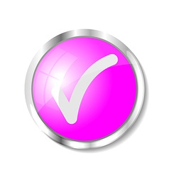 Pink web button vector